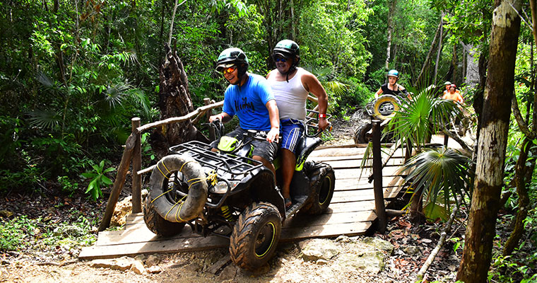 SHARED ATV, Ziplines & Cenote