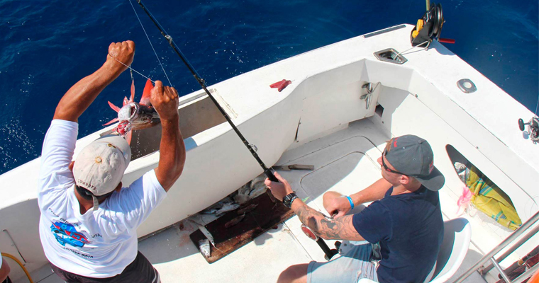 8 hour Fishing Charter 35 ft Boat