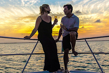 Sail at sunset on board Lord of the Seas and enjoy a delightful cruise.