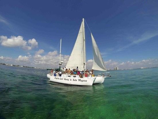 Sail to Isla Mujeres on the Trimaran Lupita.